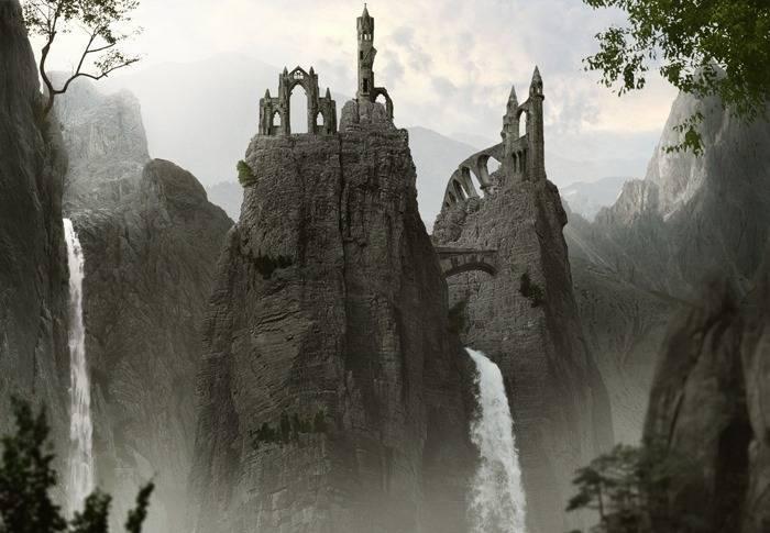 """Фотоманипуляция """"Замок из гор"""" в Фотошоп"""