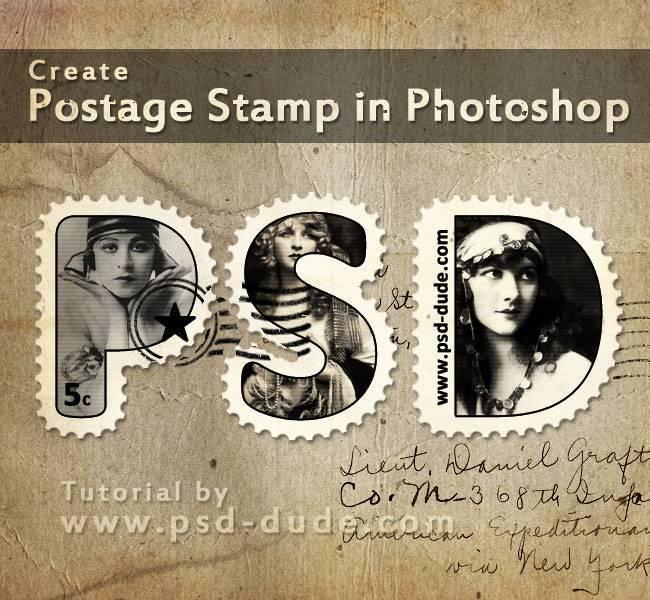 Создание текста в виде почтовой марки