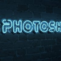 Неоновый текст в Photoshop 3D
