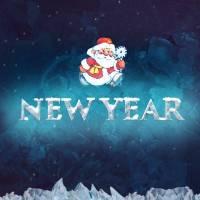 Новый год высеченный изо льда