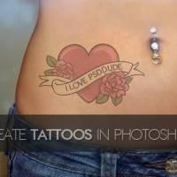 Создание татуировки на теле в Фотошоп