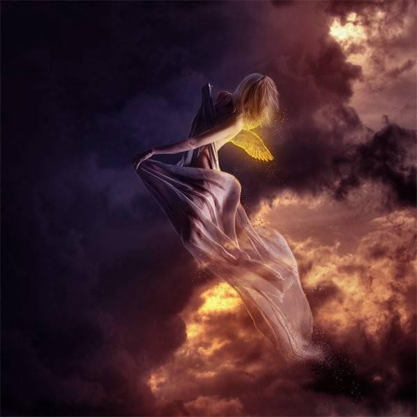 Создание фотоманипуляции Летающий Ангел.