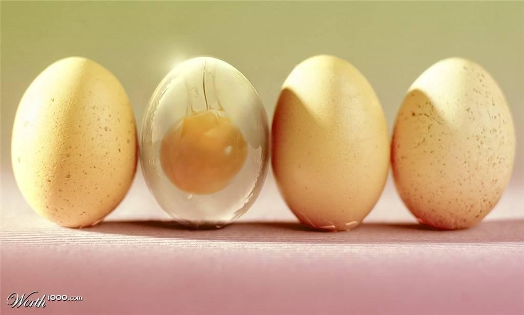 Создаем эффект прозрачного яйца